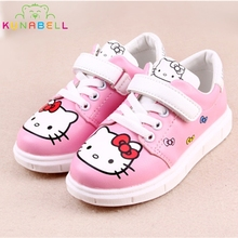 Girls Spring Sneakers Children Cartoon Hello Kitty Shoes Kids Rubber Chaussure Enfant Flats Shoes Toddlers Lovely Trainers C215