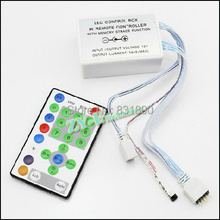 New LED 5050 Running strip light Controlor IR remote RGB controlled by Remote DC12 V Control Dimmer for 5050 strip Freeshipping(China)