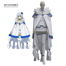 2017 Customize Free Shipping Adult White Fairy Tail Saber Tooth Celestial Wizard Yukino Aguria Uniform Halloween Cosplay Costume(China)