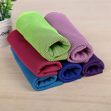 Free shipping Portable Quick-drying Cool Towel 33x88cm BLUEFIELD Microfibre Cool Towel Outdoor Sports Camping Travel Towel(China)