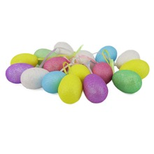 New Arrival 8 PCS Multicolored Glittering Foam Easter Egg For Easter Day Decoration Hanging  Easter Wreath Decoration ES009