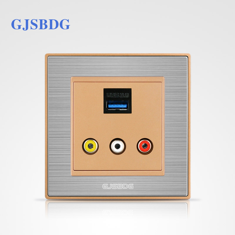 GJSBDG Luxury Wall Switch Panel Classic Series Multimedia Switch With USB Socket Best Price<br><br>Aliexpress