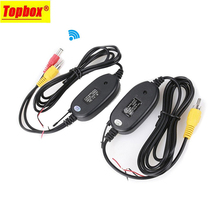 2.4G Wireless Transmitter & Receiver for Car Reverse Rear View Backup Camera and Monitor Parking Assistance Vehicle CAM