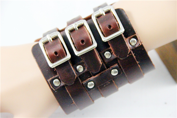 Costumes & Accessories Novelty & Special Use Esihou Star Cosplay Props Style Punk Rock Button Leather Wrist Strap Cuff Acc Wrist Support Guard