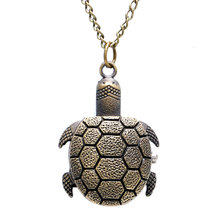 Cute Little Turtle Pattern Pocket Watch Pendant Watches Free Shipping P626