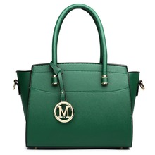 Buy 1 Get 1 at 50% Off Miss Lulu HOT SALE Green Women Classic M Leather Handbag Shoulder Tote Hand Bag Cross Body Satchel LT1625