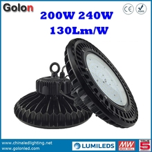 Best price top quality super bright 130Lm/W 5 years wararnty 240W 200 watts high bay LED warehouse lighting fixtures