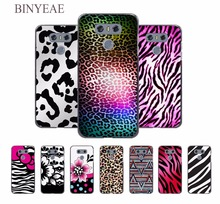 BINYEAE Black and Pink Leopard Print design hard black Case for LG G6 G5 G4 G3 V20 V10 K8 K4 K3 2017 k10 2017EU LG stylus3(China)