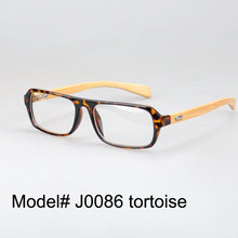 J0086 New arrival full rim plastic bamboo temple your style myopia glasses optical frame nature eyewear spectacles(China)