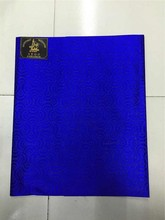 2017 Nigeria Gele Sego Headtie,Wholesale and Retail New Design African Headtie,High Quality Royal Blue Head tie Fabric(China)
