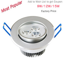 9W 12W 15W 21W AC85V-265V 110V / 220V LED Ceiling Downlight Recessed LED Wall lamp Spot light With LED Driver For Home Lighting