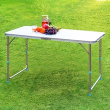 Finether Folding Outdoor Table Ultralight Height-Adjustable Aluminum Portable Table for Dining Picnic Camping BBQ Party Camping