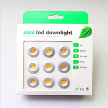 9pcs/lot DC12V 1W LED MINI Downlight Bridgelux Chip Waterproof IP65 LED Spot Light LED Cabinet Light New Design(China)