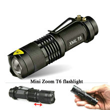Mini cree xm-l t6 flashlight powerful Zoomable waterproof led torch rechargeable 18650 lanterna camping flash light 3000 lumen(China)