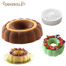 DINIWELL Bakeware Baking Pastry Mould Round & Castle Design Silicone Mold For Breads Mousse Cake Brownie Cornbread Cheesecake
