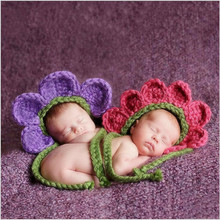 baby alive props knitted sun flower pattern costume for toddlers crochet spring infant hats photography accessories for newborns