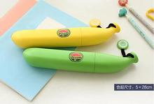 Creative Banana Umbrella Um-Banana Yellow Green Umbrella Novelty Portable Light Kids Folding Banana Umbrellas Raingears(China)