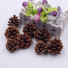 3pcs Pine Nuts Handmade Artificial Plant For Wedding Home Decoration DIY Handiwork Accessories fleurs Scrapbooking Supplies(China)