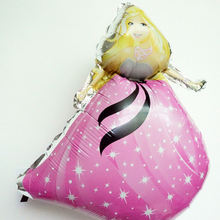 2pc/lot  foil balloon 70*48cm mylar material girl baby princess balloon for children birthday balloon party decoration