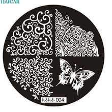 2017 New Arrival Nail Art Image Stamp Stamping Plates Manicure Template 004 for Women Beauty A4203