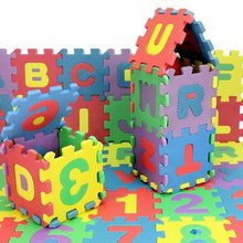 ABWE 36Pcs Colorful Mini Size Puzzle Kid Educational Toy Alphabet A-Z Letters Numeral Foam Mat(China)