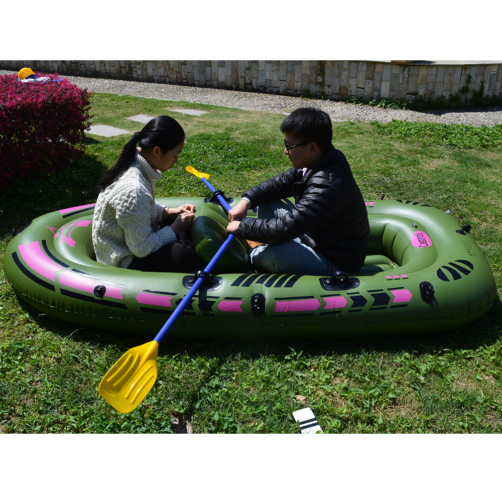1 Set 2 - 3 Person Portable Inflatable Boat High Strength PVC Rubber Fishing Boat 230x137cm with Paddles Pump Patching Kit (5)