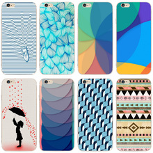 97F Umbrella Penguin Pattern Transparent Hard Thin Case Cover For Apple iPhone 4 4S 5 5S SE 5C 6 6S 7 Plus