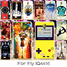 22 DIY Soft TPU Silicon Mobile Phone Case For fly iq4416 iq 4416 era life 5 life5 Back Cover Rubber Shell Housing Bags Hood