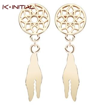 1Pair New Bohemia Feather Beads Long Design Dream Catcher Earrings for Women Jewelry Dangle Earrings Hanging Earrings Brincos