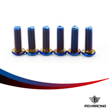 PQY RACING- 6PC/LOTS Burnt Titanium Steering Wheel Bolts Fit a lot of steering wheel Works Round Boss Kit PQY- LS06R