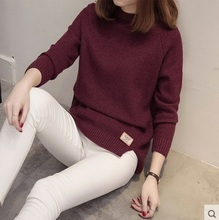 2017 New Female o-neck Sweater Women Knitted sweaters And Pullovers Long Sleeve Pull Femme Winter Cashmere Oversized Pullover