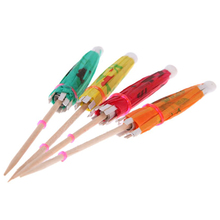 HGHO-72 Pieces Colorful Mixed Paper Cocktail Drink Umbrellas Parasols Picks for Party Drinks