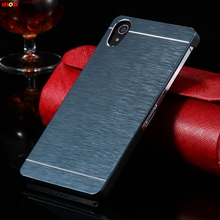 LELOZI For Sony Xperia Z2 C770x L50W D6502 D650 D6503 Hard Protective Cover With Logo Ultra Slim Brush Skin Metal Aluminum Case(China)