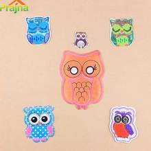 Prajna Sequin Animal Cotton Owl Embroidered Patches Cartoon Iron On Patches For Clothing Funny Bordad Logos Vest Pokemon CheapA1