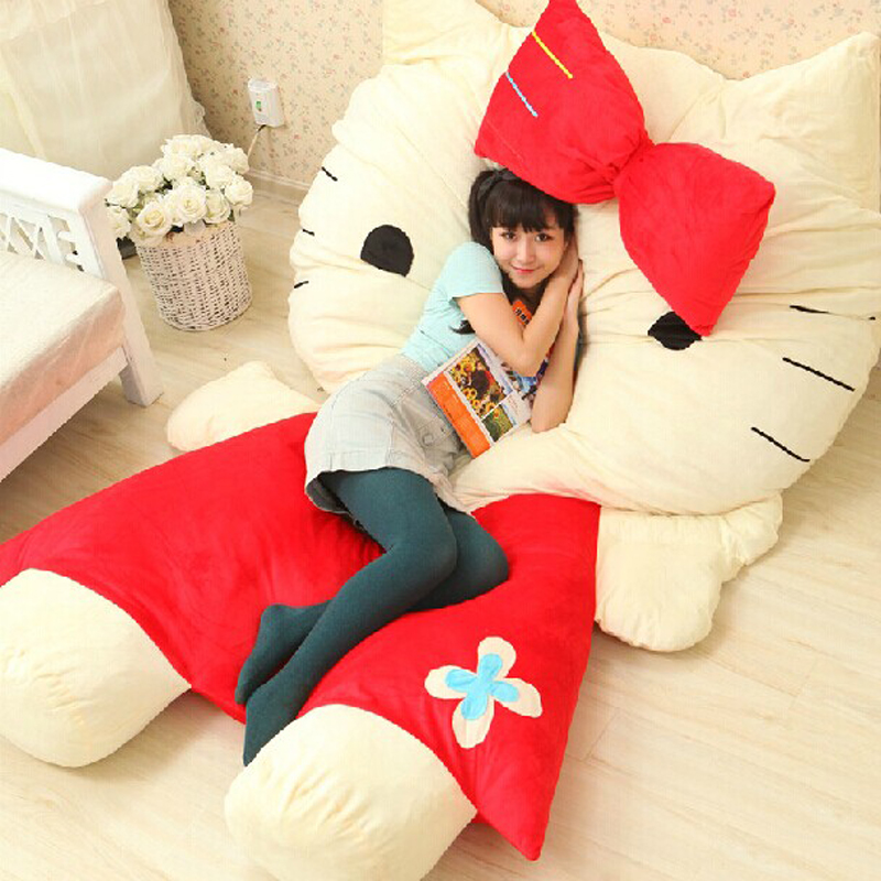 Image Cartoon Mattress Hello Kitty Sofa Bed Giant Stuffed Animal Bed Tatami Cushion Plush Memory Foam Beanbag Sleeping Bag Adult Pad
