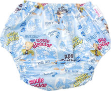 Free Shipping FuuBuu2202-Blue Bear-L-1PCS adult plastic non pants for babies diapers adult cloth diaper cover pvc shorts ABDL