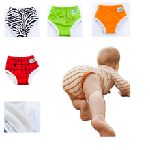 2016 New Waterproof Washable Baby Training Pants Trainers Bamboo Potty Baby  Pants 1pcs PUL Fabric Fit 1-3 Years Baby