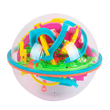 18cm 3D Magic Intellect Ball Marble Puzzle Game perplexus magnetic balls IQ Balance toy Educational classic toys Maze Ball gifts(China)