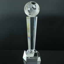 Crystal Champions League Trophy Football Cups Football Souvenir Champions Trophy Soccer Award 30cm Height With Box(China)