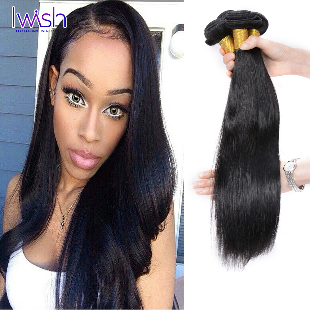 Iwish Peruvian Straight Virgin Hair 100% Human Hair Weaving Peruvian Virgin Hair Straight 4 Bundles Peruvian Straight Hair<br><br>Aliexpress