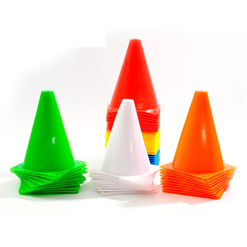 5Pcs//Lot Soccer Training Cone Cylinder Football Train Obstacles Roller Skatin`