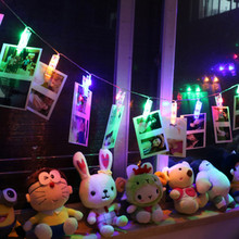 2.5M 10 Photo Clip USB Plug LED String lamps Fairy Garlands Lights Romantic Wedding Party Home Decoration LED Flash Fancy Light