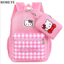 Hello Kitty Children School Bags for girl Waterproof Mochilas Kids Backpacks Primary Cartoon Backpack Lovely kid Bag X832