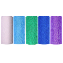15cm X 10 Yards Glitter Wave Tulle Rolls Organza Gauze Element Wedding Decoration Tulle Party DIY Decorations Crafts(China)