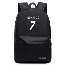 High Quality New Fashion 7 Color Ronaldo Soccer Football Backpack Boy Girl School Bag For Teenagers Canvas Backpacks