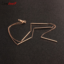Louleur 2017 New 316L Stainless Steel Strip Necklace for Women luxury Rose Gold Color Chain Choker Necklace Collier ras du cou
