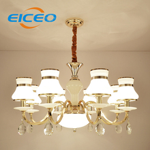 (EICEO) European Style Crystal Lamps Contemporary Contracted Sitting Room Lamp Atmospheric Restaurant Bedroom LED Pendant Lights