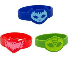 3Pcs/lot Cartoon Pj Mask Wristband Characters Catboy Owlette Gekko Action Figure Accessories Toys Silica gel Children Gifts
