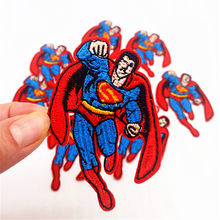 New 10Pcs Superman Patches For Clothing Iron On Embroidered Applique Patch  Bag Clothes Stickers DIY Garment Apparel Badges Patch b94c6fb51ea6
