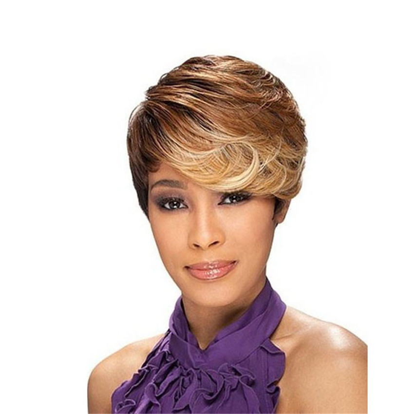 Rihanna Short Ombre Wig Shorts Wavy CLASSY Style Synthetic Wigs for women Free Shipping<br><br>Aliexpress